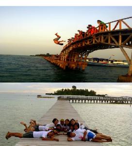 Jembatan cinta kisamu di Pulau Tidung
